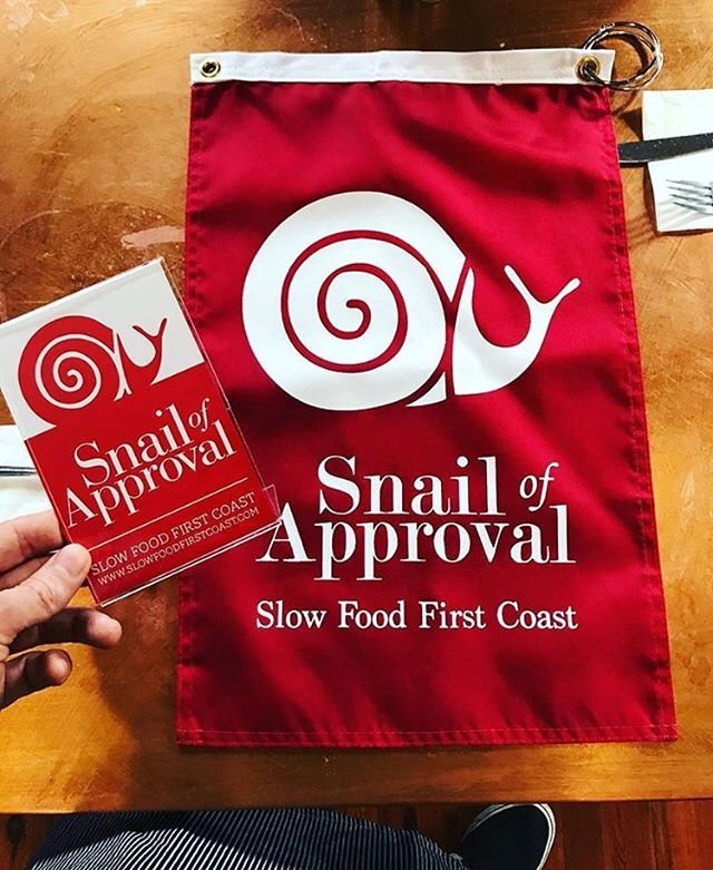 We are so pleased to announce we have a new Snail on board board—congrats @freshcatch27 !! We love what you're doing to support local farms, seafood and producers in the kitchen. 🐌 🦐🌱#slowfood #staugustine