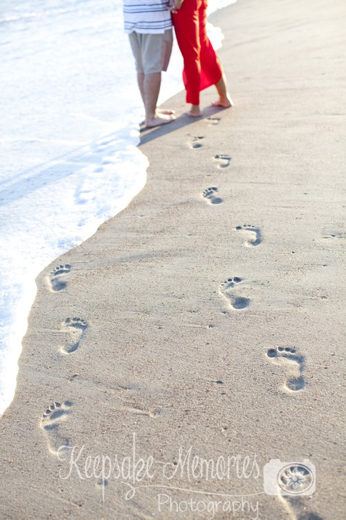 cute-footprints-in-sand-engagement-photo