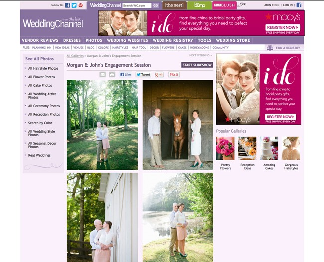 wedding blog feature