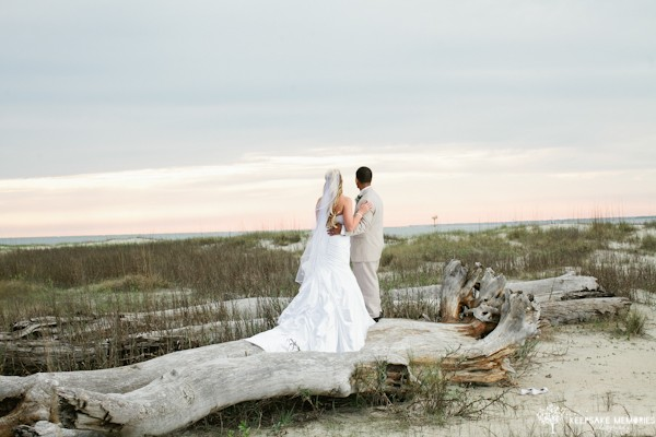 wedding driftwood in bald head island
