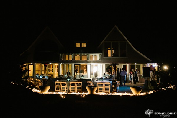 bald head island weddings at night
