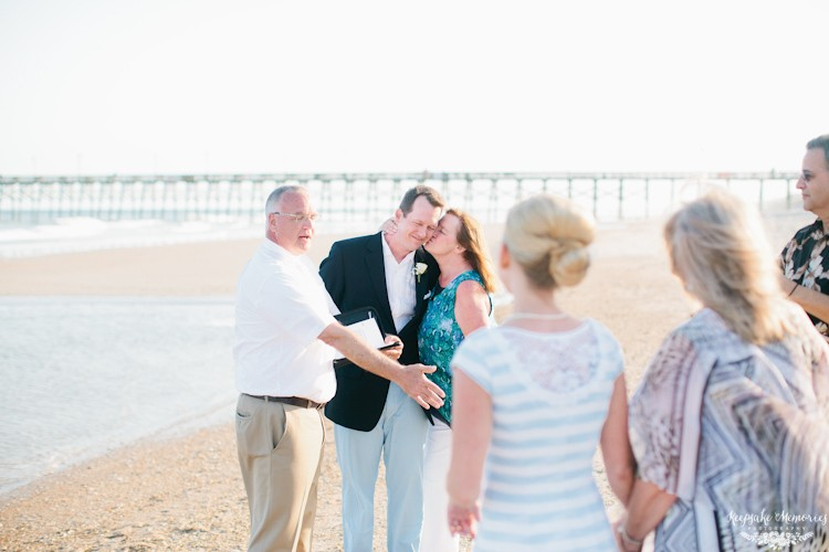 topsail island beach wedding