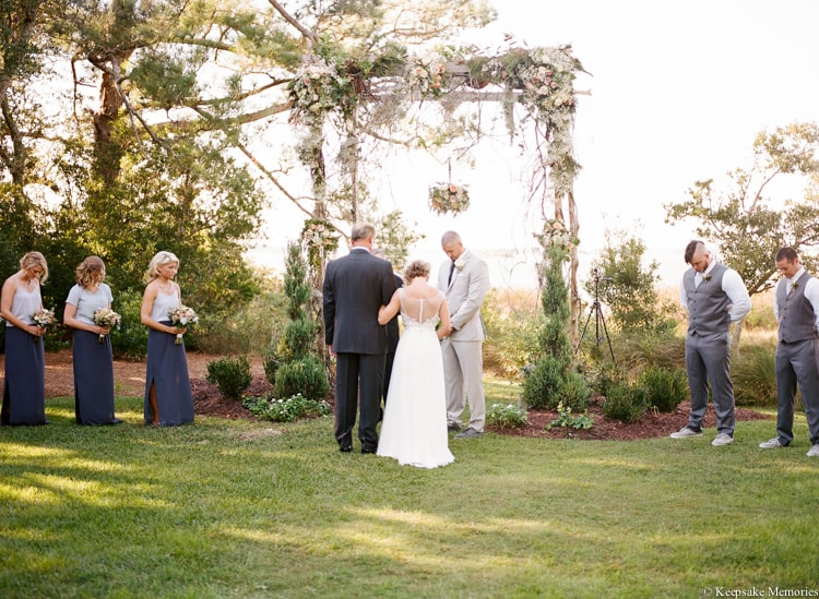 crystal coast wedding
