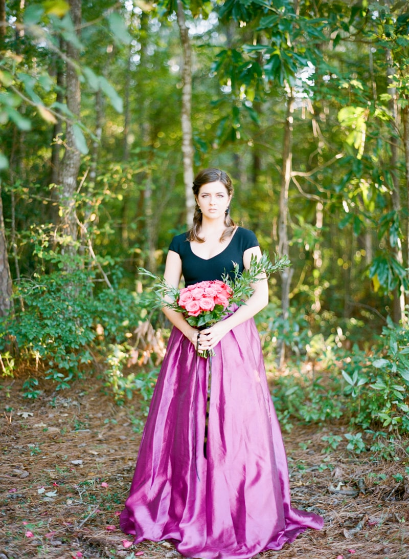fuchsia black wedding