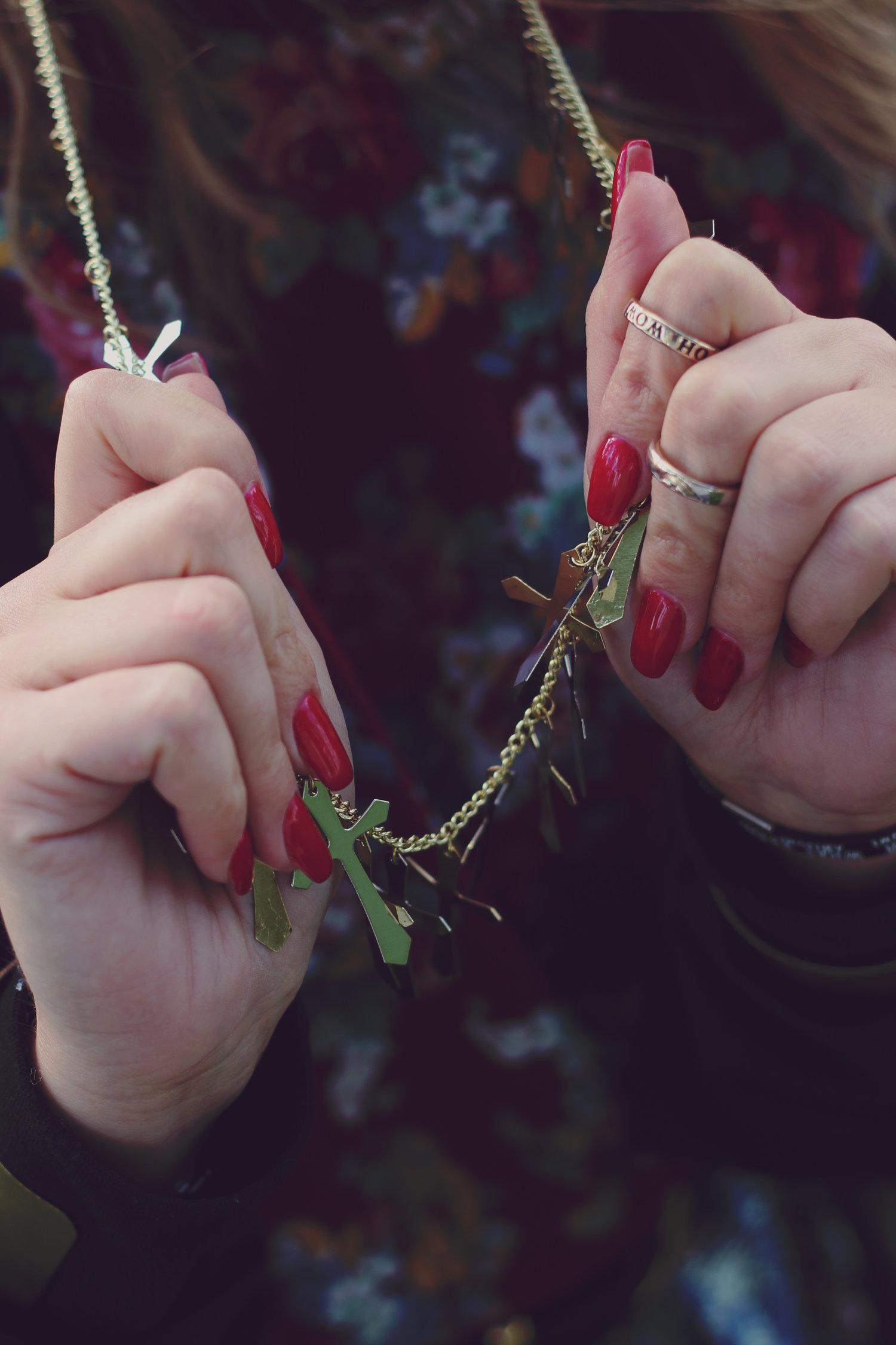 Popular fashion nails uxbridge - Red Hand Cross Style Jpg