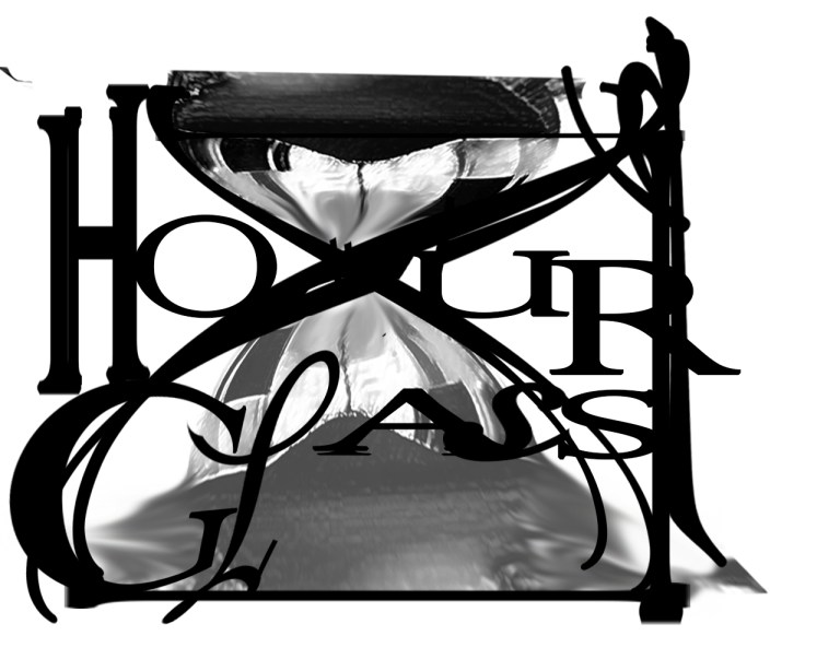 I made the decision to feature multiple typefaces for each letter in this expressive word to symbolize the changing fonts like the constant change of time represented by sands falling in the hourglass. I structured the words 'hour' and 'glass' on top of each other respectively to create a shape of an actual hourglass. The 'h' and 'r' mark the frame of the timepiece. The round shapes of the 'o', 'u', 'g', 'l' and 's' fit the curve of the glass that the sand falls into. I positioned the capital 'a' to resemble the pile of sand accumulating at the bottom of the glass.
