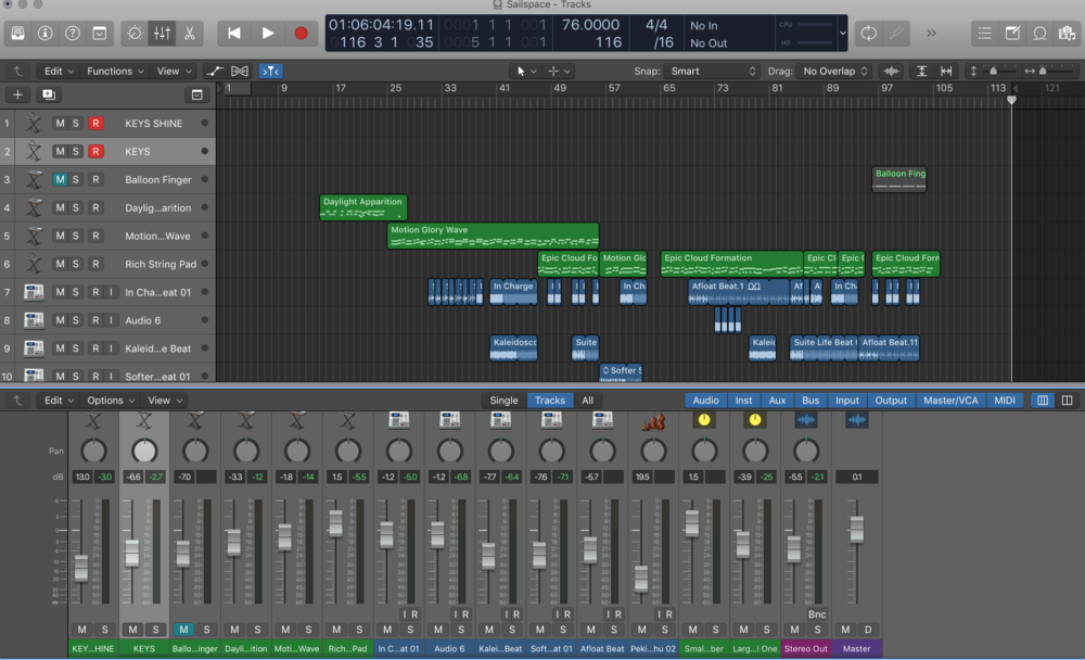 Accompanying Music in Logic Pro X