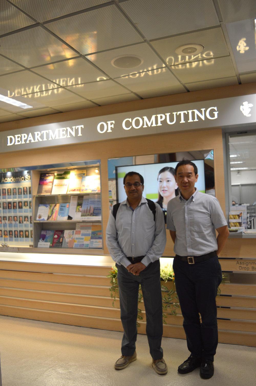 With Professor Song Guo at Hong Kong Polytechnic University.