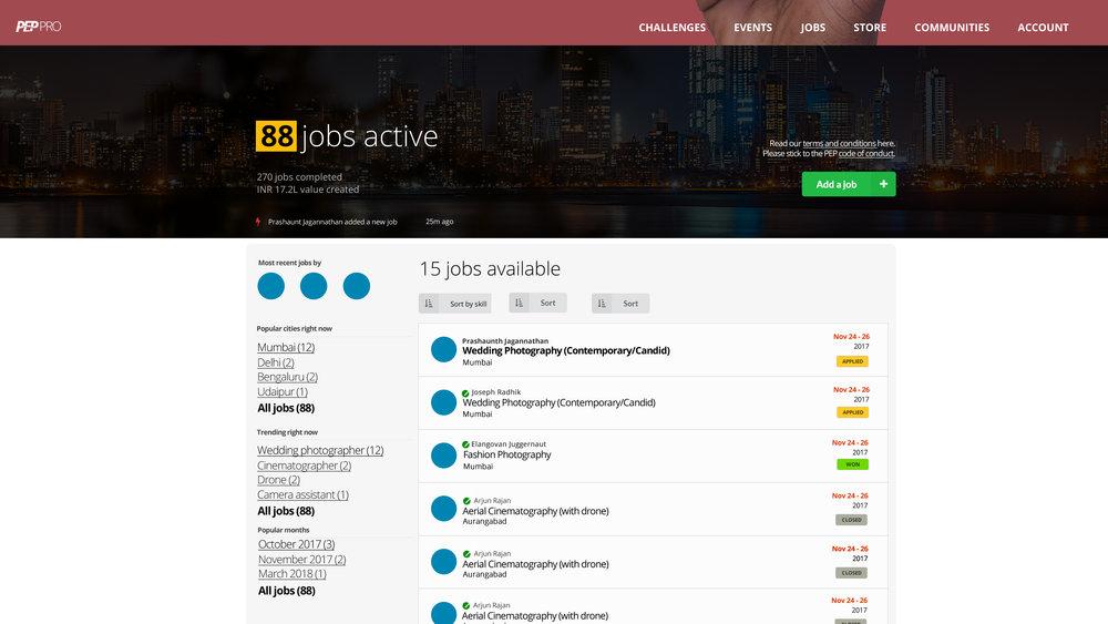 One of its kind jobs portal -