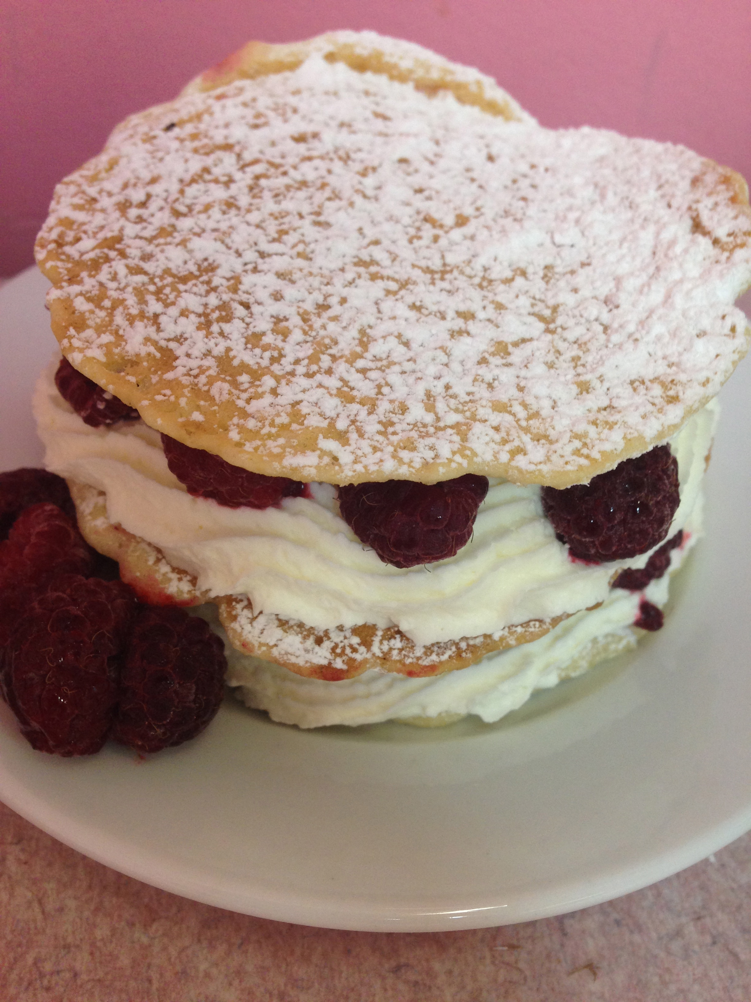 pizzelle cream stacks