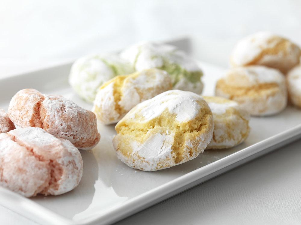 Our Amaretti cookies, Raspberry, Lemon, Lime and Orange  photo: Scott Goodwin