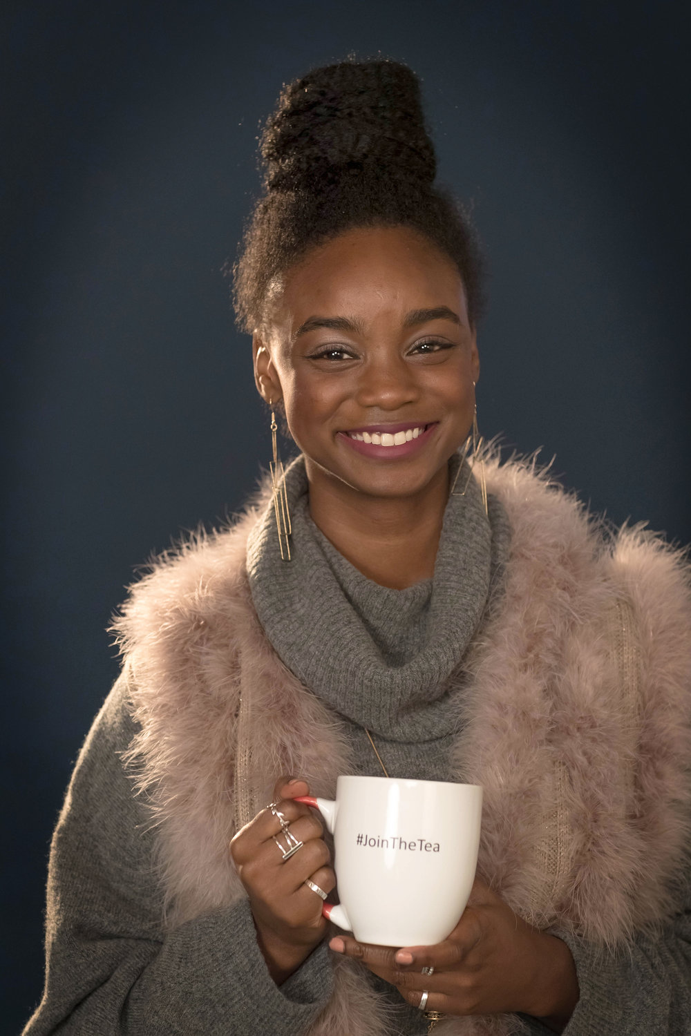 """Janelle Clayton    JANELLE IS AN ACTRESS, MODEL, BOARD MEMBER OF A NON-PROFIT, UNIVERSITY OF VIRGINIA ALUMNI ASSOCIATION, AND ACCOUNT MANAGER IN ADVERTISING. SHE WAS A VARSITY TRACK AND FIELD HIGH JUMPER AT HER ALMA MATER, THE UNIVERSITY OF VIRGINIA. WHEN SHE ISN'T AT THE OFFICE, JANELLE IS AUDITIONING FOR HER NEXT ROLE AND BLOGGING.     """"The Tea' is an essential and safe place to discuss the issues and hot topics that heavily impact our communities from relationships to family history to health and beyond. Our show has encouraged me to share my own beliefs and listen to others' views, as well. The Tea is a place that belongs to all of us. I'm proud and in awe of the stories and gems we all share across the globe.""""      facebook.com/JanelleAClayton       instagram.com/janelleclayton"""
