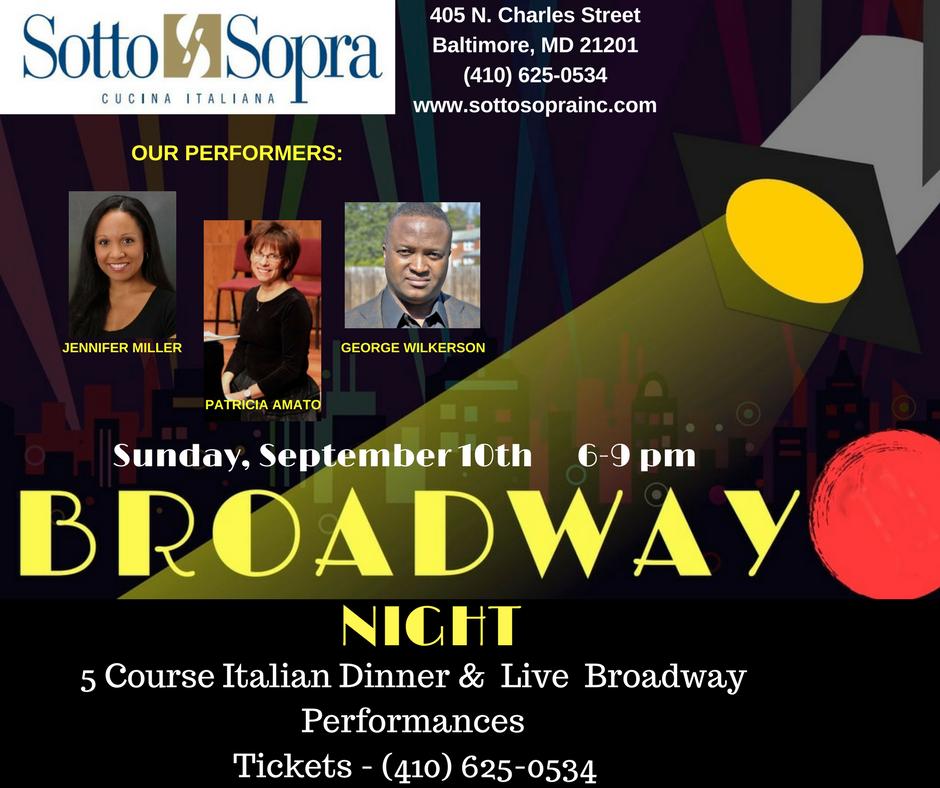 SOTTO SOPRA'S BROADWAY NIGHT ENCORE- SOLD OUT — Sotto Sopra