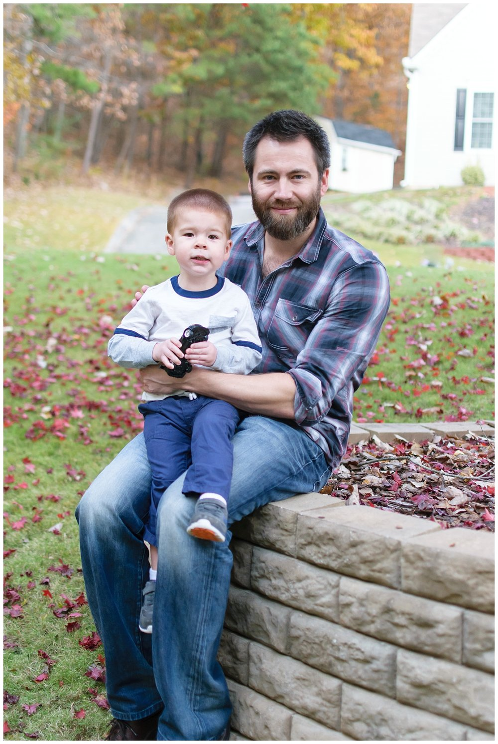 this are images of a dad and his toddler son during a lifestyle in home session in marietta, georgia