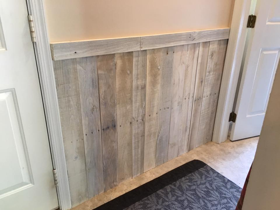 Shiplap Wainscoting - Whitewashed