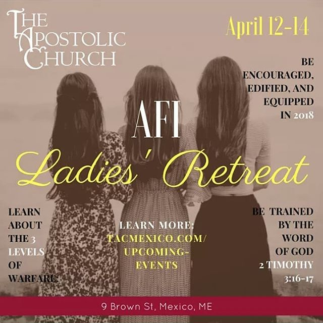 LADIES!! Start making plans now to attend! April 12-14, 2018