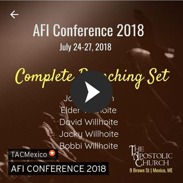 Go to SoundCloud and follow TACMexico for the complete AFI CONFERENCE preaching SET!