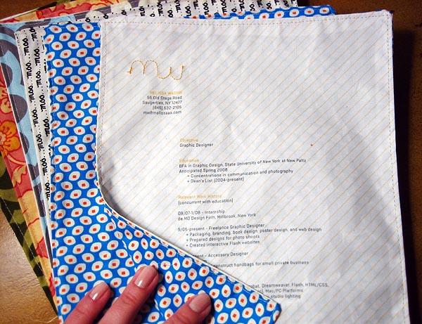 resume sewing
