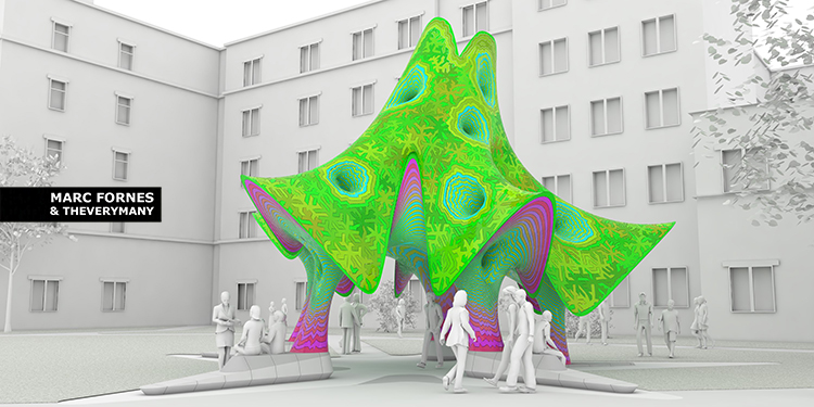 MARC FORNES THEVERYMANY Texas State Public Art Pavilion Aluminum Digital Fabrication Rhino GH Python