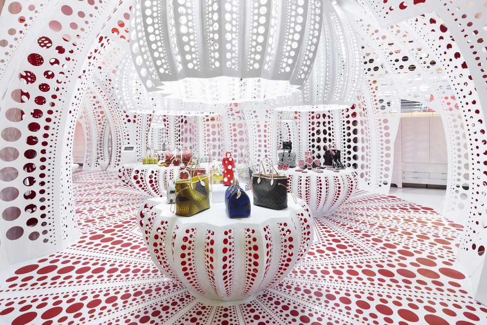 Louis Vuitton Pop-Up Shop, Selfridges, London, 2012  -- Technology and material innovation contribute to the evolution of the research of the studio. The pop-up shop for Louis Vuitton demonstrated the largest-scale application to date of carbon fibre.