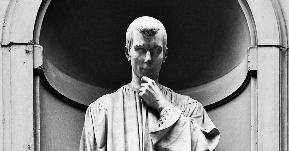Niccolo Machiavelli  statue by Lorenzo Bartolini in Florence Italy