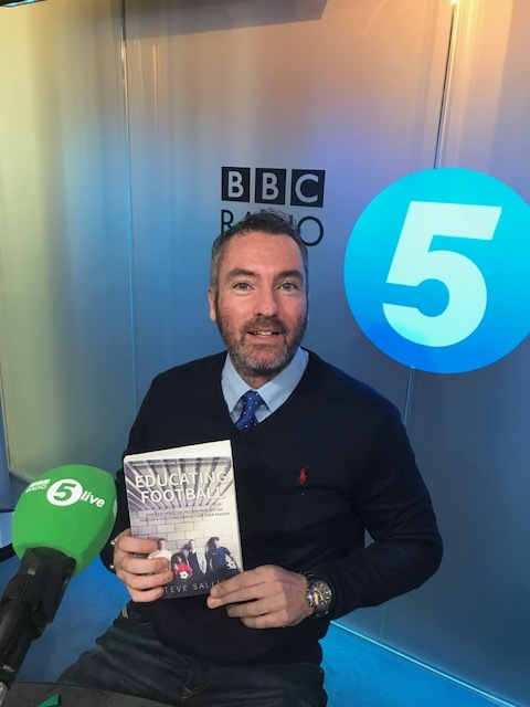 "Interview on Radio 5 live discussing his book ""Educating Football to one million listeners"