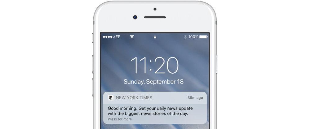 Time based app push notification