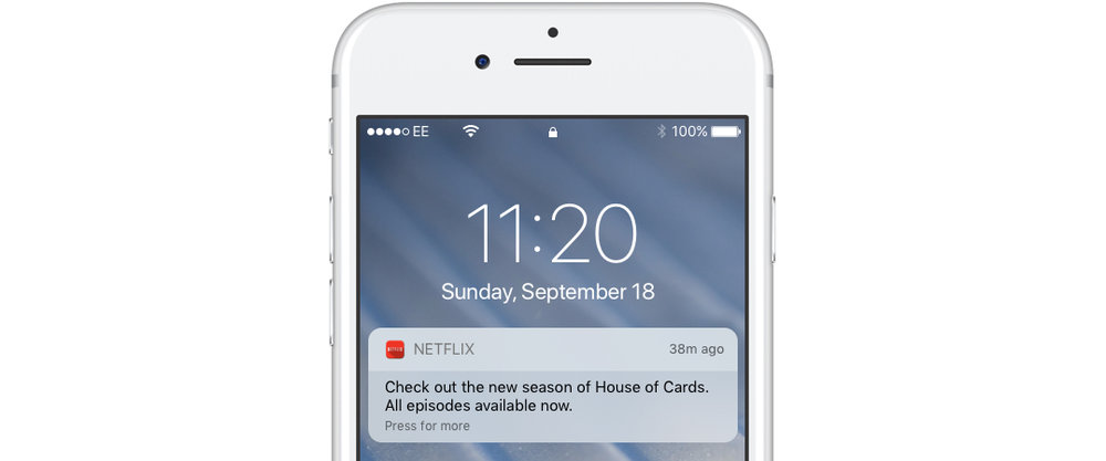 netflix app push notification
