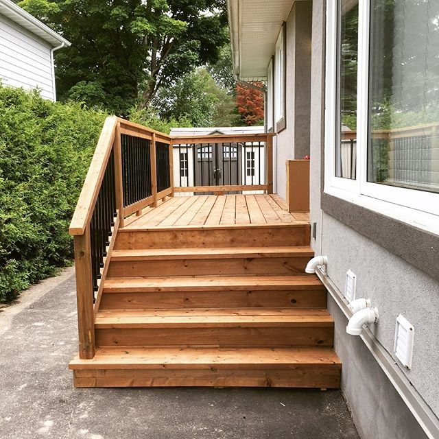 Client called me back and decided they wanted 6' stairs instead of the original 4'. Not a problem at all! #quickfixes #happyclients #customerservice