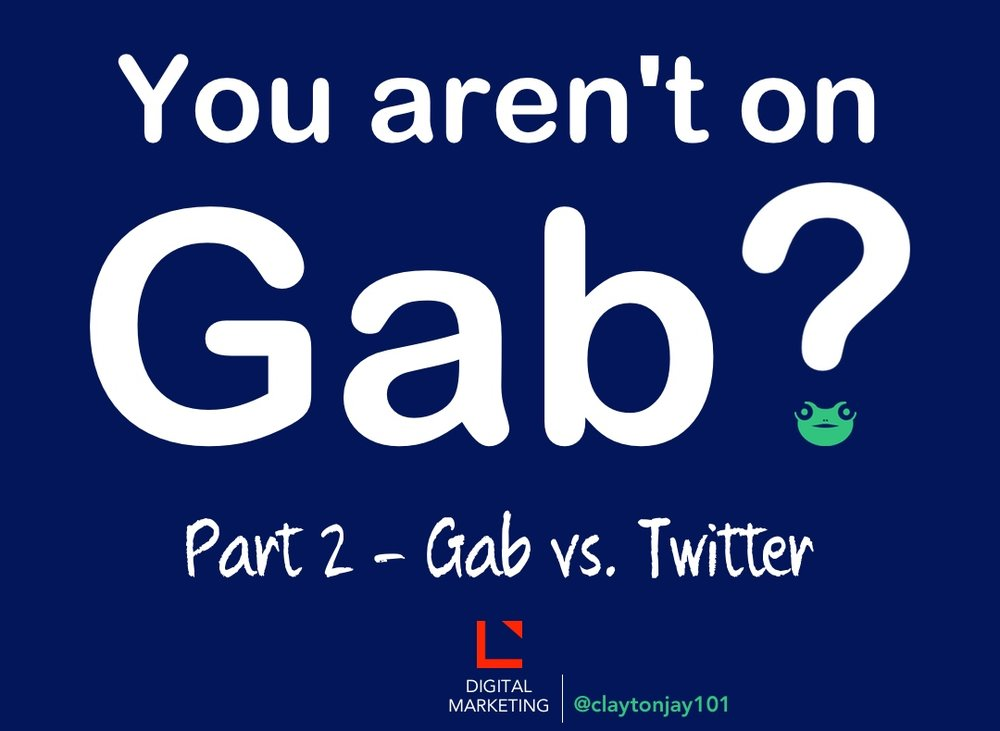 Gab social network similar to Twitter found at www.gab.ai