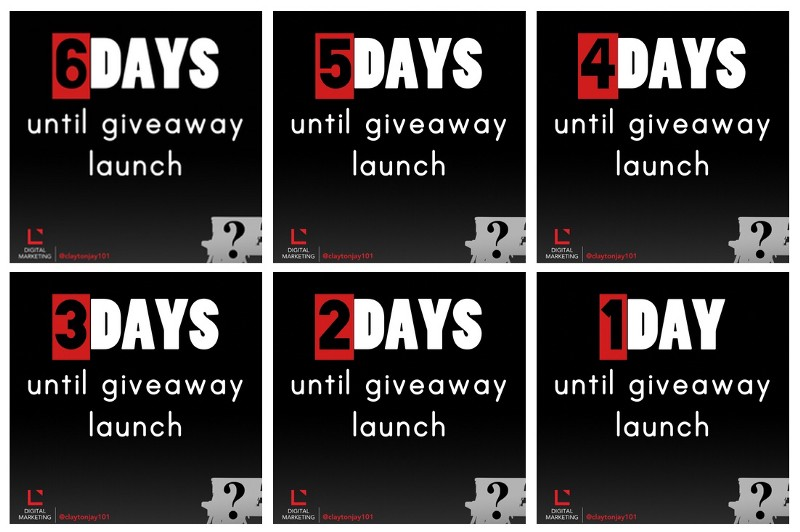 6 days until the social media giveaway launch