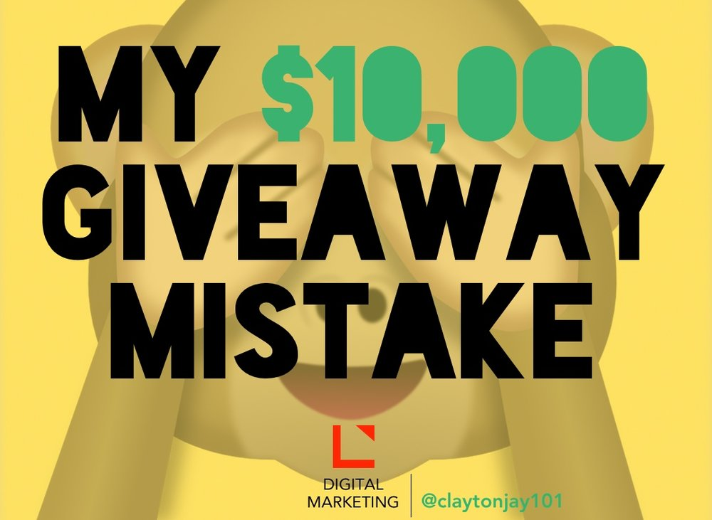 $10,000 giveaway mistake by not using social media