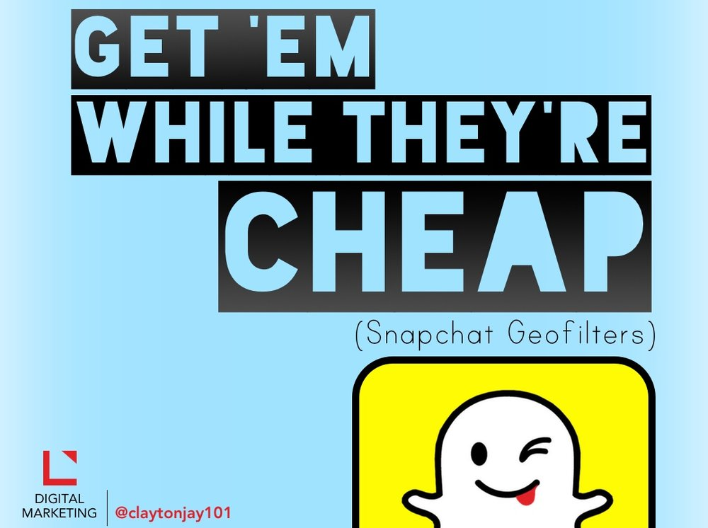 Get Snapchat geofilters while they are still low priced