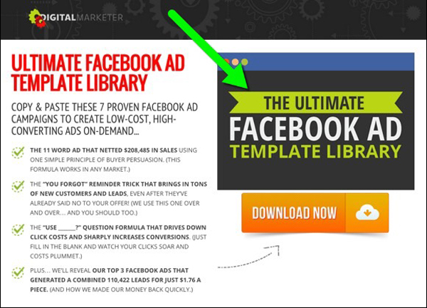 Lead magnet for Facebook ads that DigitalMarketer used to get 35,859 leads in 60 days