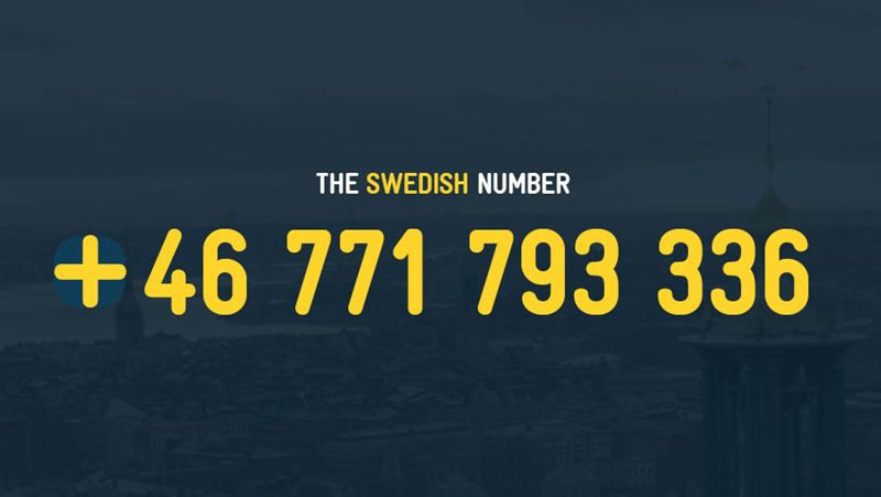 The Swedish number campaign attracted a lot of attention on the internet and social media