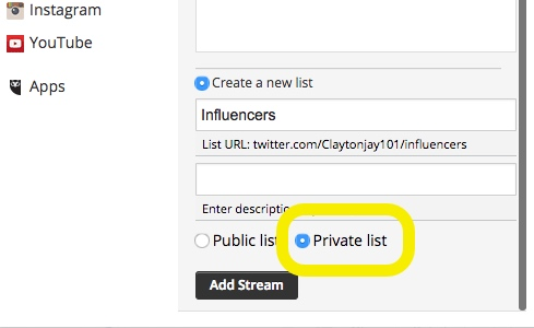 How to setup a Hootsuite Twitter Stream for competitor or company mentions on social media 2-4