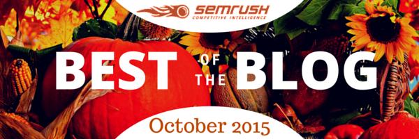 SEMRush October blog post on digital and social media marketing