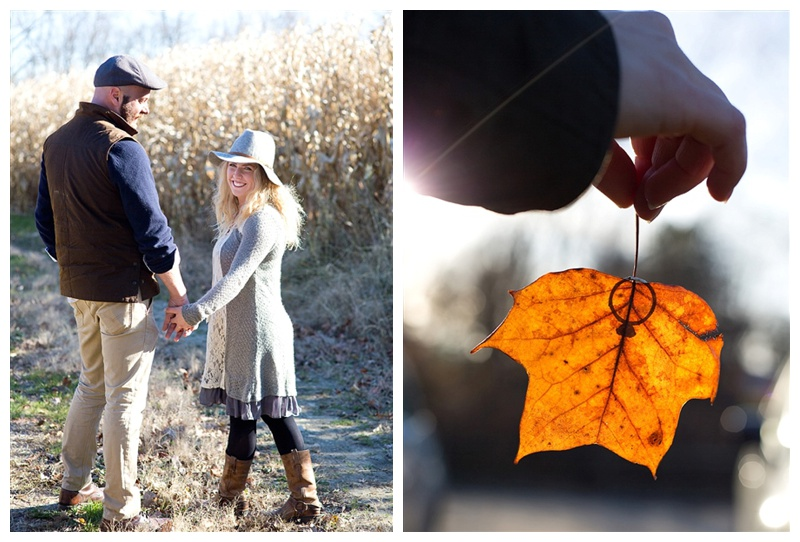 An autumnal engagement session for an autumn wedding
