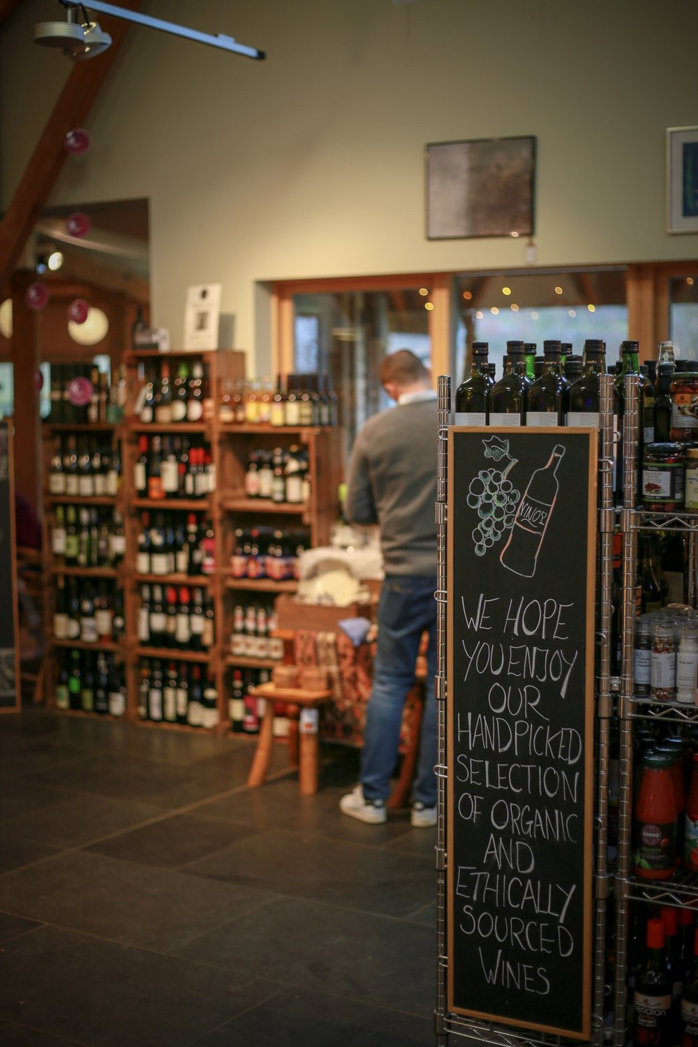 Loch Arthur Farm Shop & Cafe includes a selection of ethically sourced and organic wines