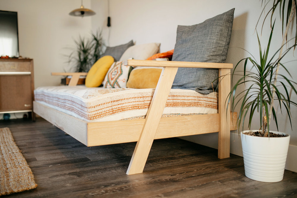White Oak Day Bed