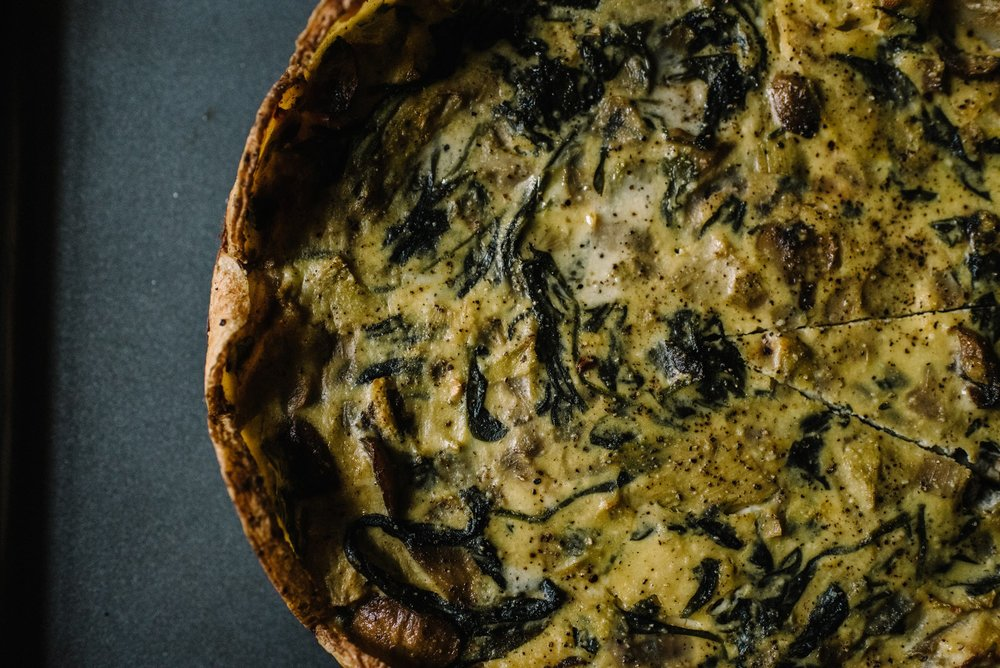 Elsterware Herbed Spinach Torte Artichoke Mushroom Potato Crust