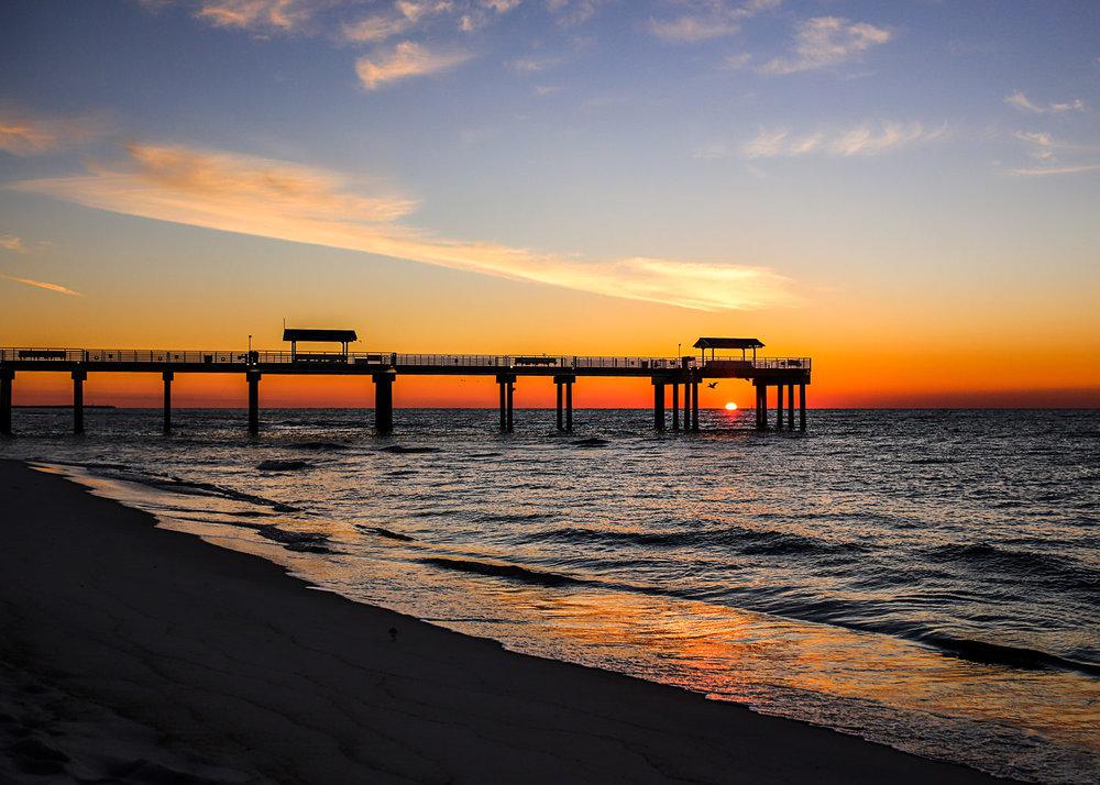Four Seasons Pier, Orange Beach, Alabama by Amanda Lynn.