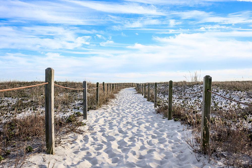 East Entrance at Alabama Point, Orange Beach, Alabama by Amanda Lynn.