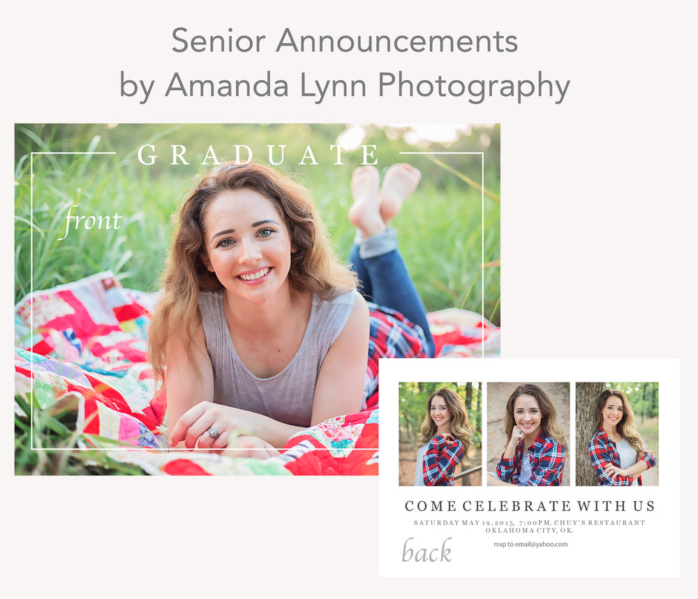 High School Senior announcement preview by Amanda Lynn Photography, Oklahoma City.