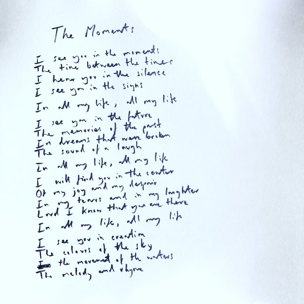 Handwritten The Moments