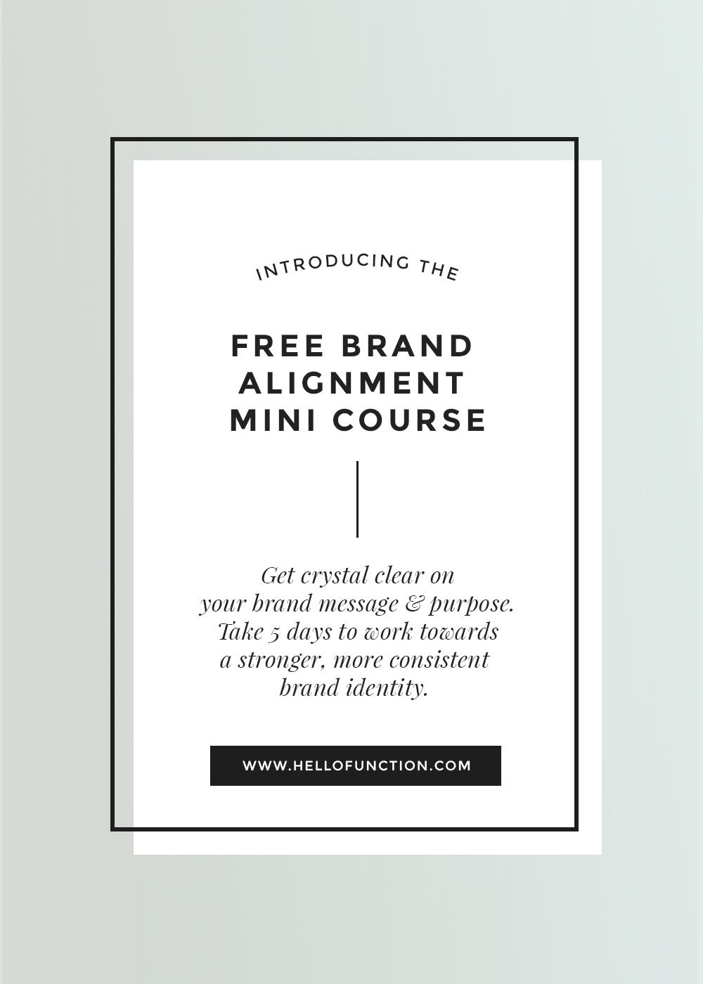 brand alignment free brand challenge banner