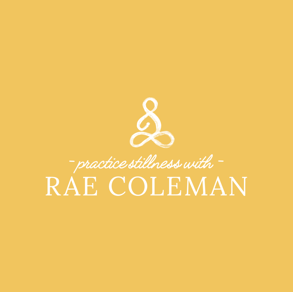 rae coleman yoga and meditation brand design logo