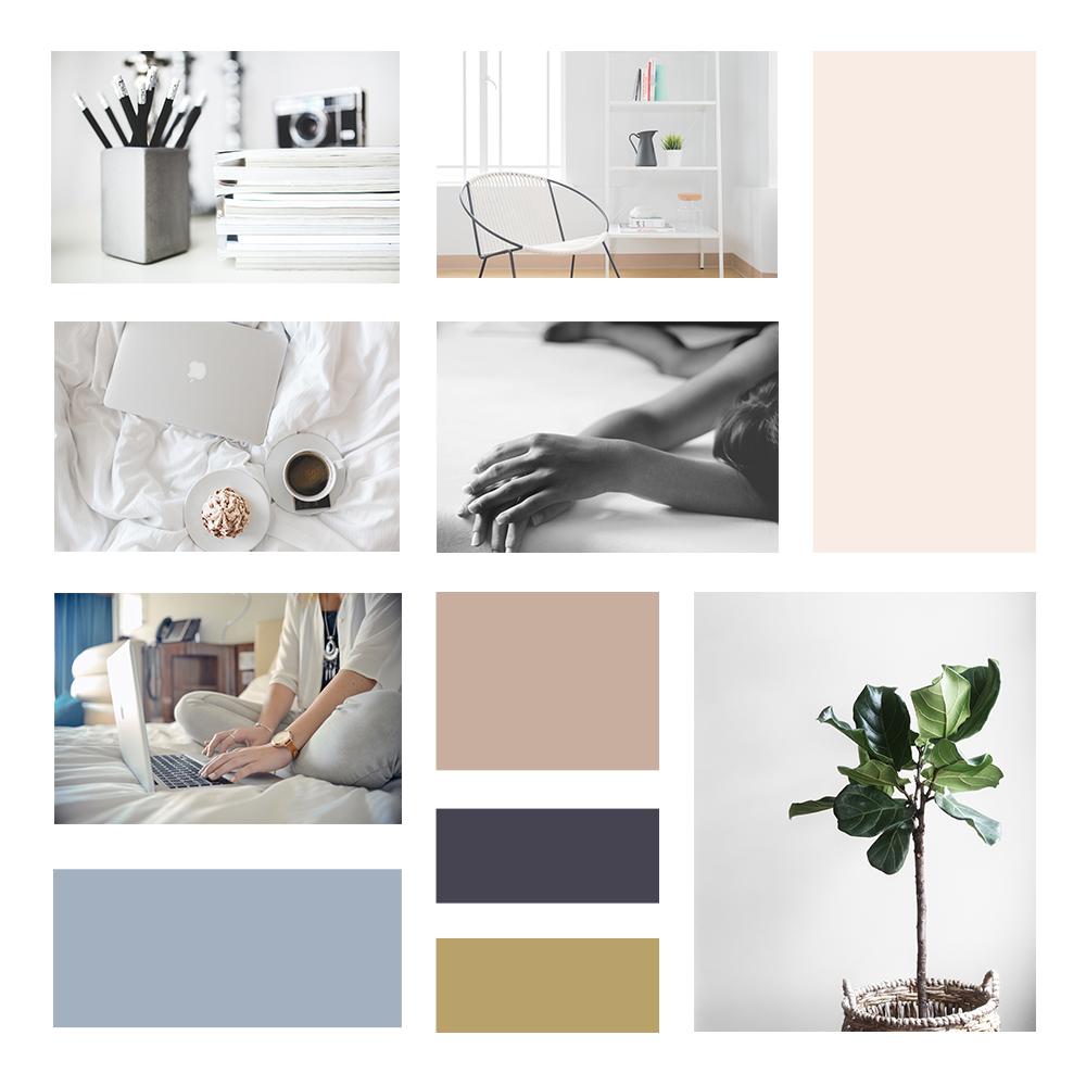 brand moodboard minimal clean fresh modern