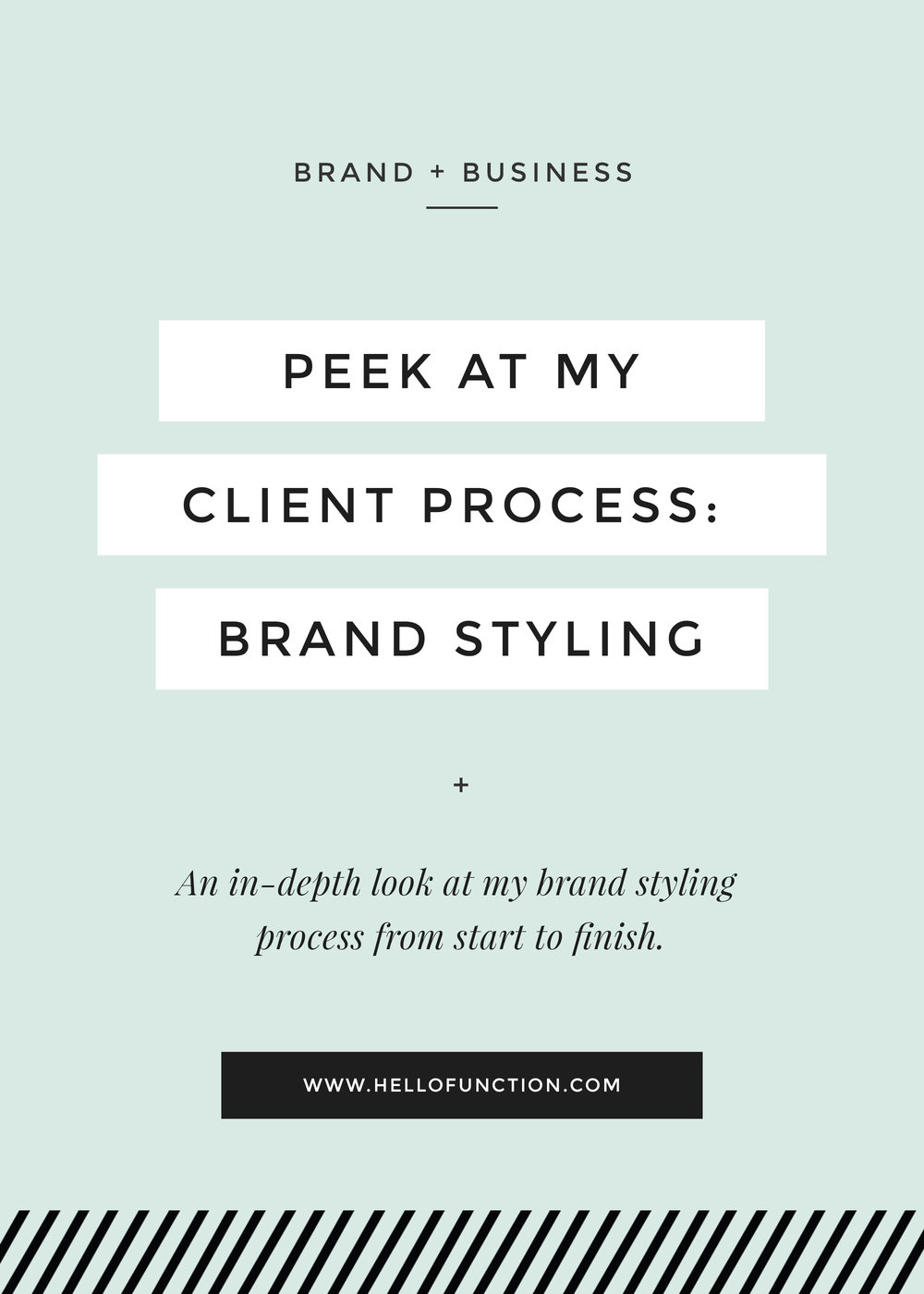 client process brand styling function creative co