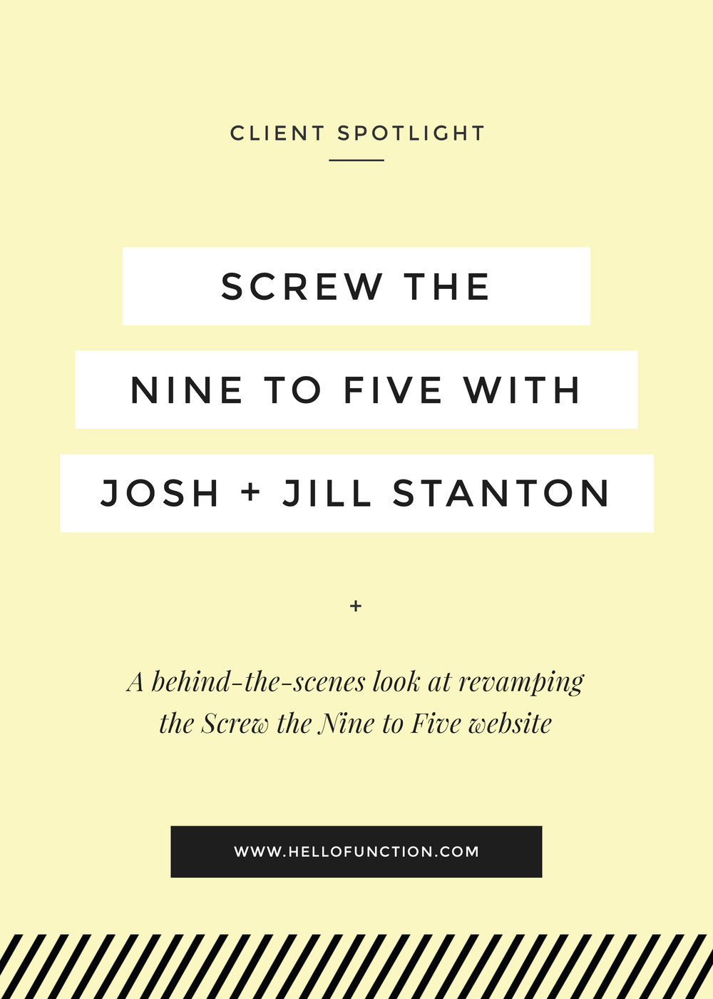 screw the nine to five with josh and jill stanton